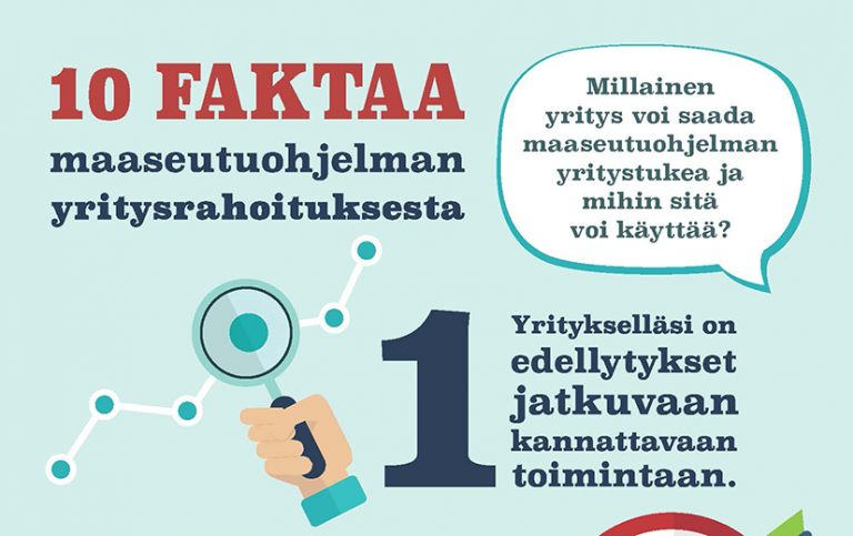 10 faktaa yritystuesta