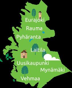 Piirroskartta Leader Ravakan alueesta