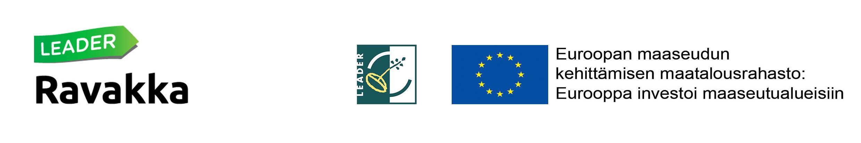 Leader Ravakka ja EU:n maaseuturahasto logot
