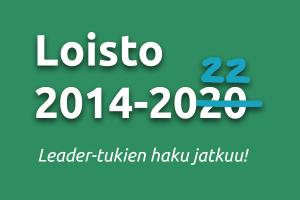 Kuvassa teksti Loisto 20214-2020, 20 yliviivattu ja kirjoitettu 22