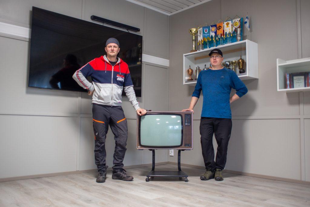 Ville Aerila ja Pekka Siivonen Ihoden Kiristä Kirikallion kokoustilassa.